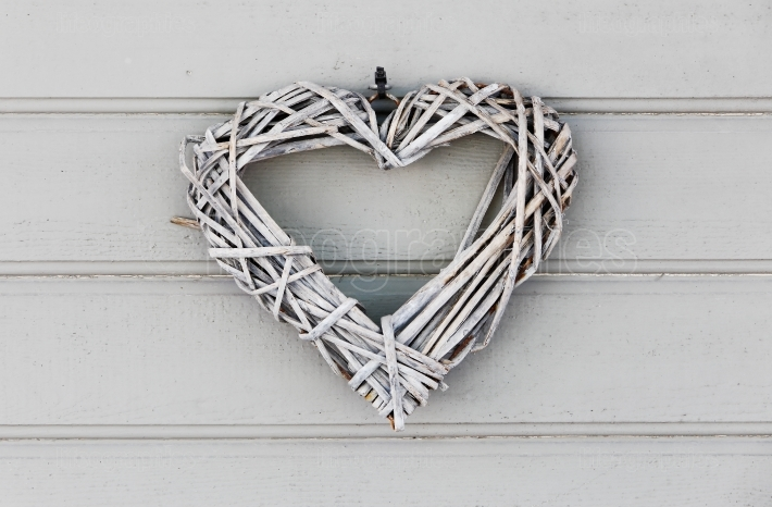 Grey heart shaped decoration