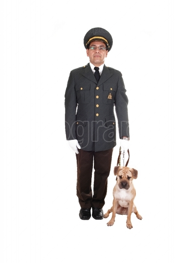 Guard with dog