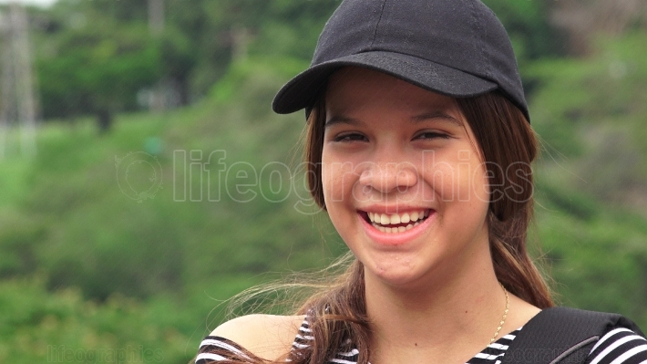 Happy Female Teen Or People Laughing
