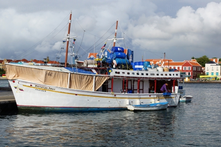 Harbor of Willemstad, Curacao, ABC Islands