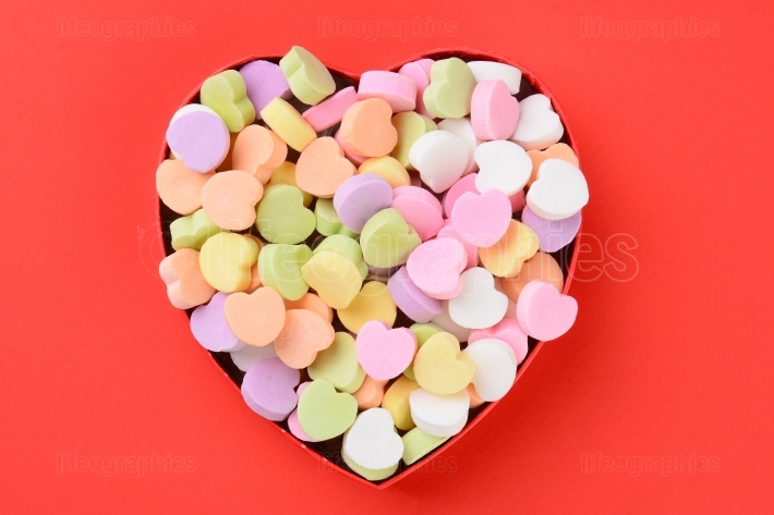 Heart Shaped Box with Valentines Candy