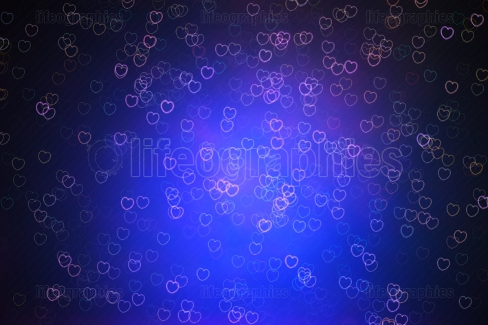 Hearts in space illustration background