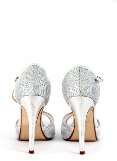 High heel women shoes on white background,