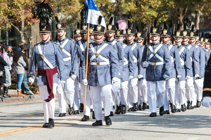 High School Military Cadets March In Georgia Veterans Day Parade