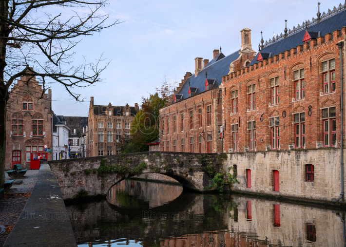 Historic city of Bruges, Belgium