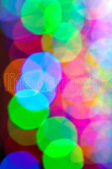 Holiday lights create colorful bokeh pattern