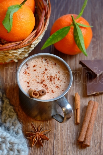 Homemade Peppermint Hot Chocolate