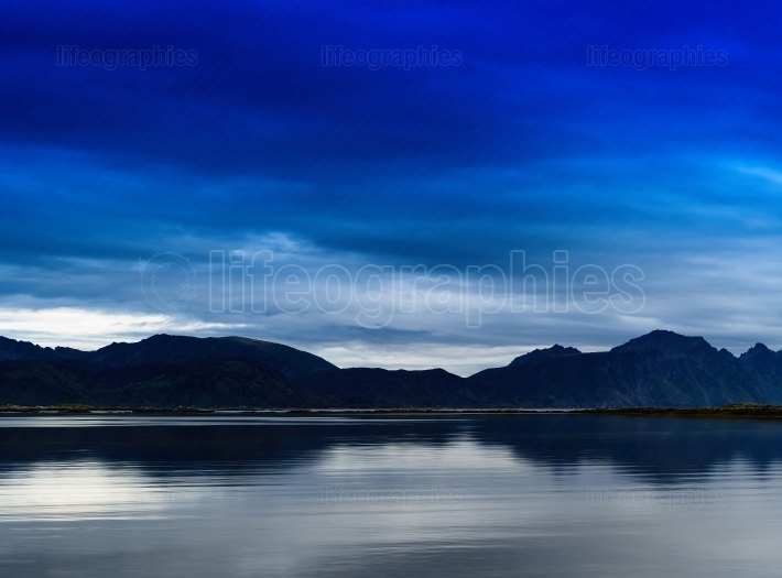 Horizointal vivid Norway fjord nature landscape background backd