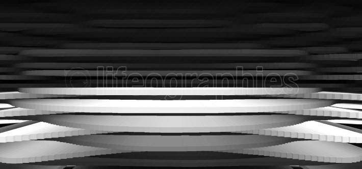 Horizontal black and white 3d relief abstraction backdrop