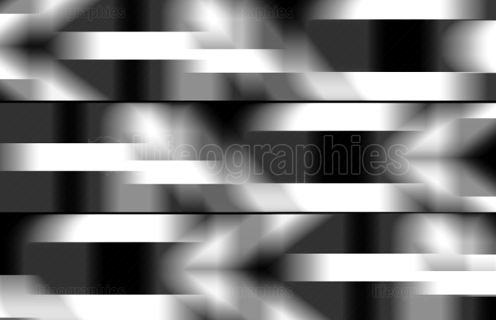Horizontal black and white blurred lines illustration background