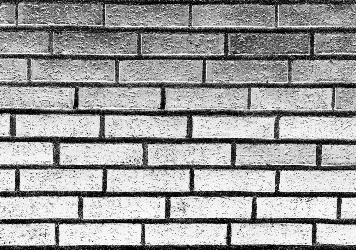 Horizontal black and white brick wall texture background