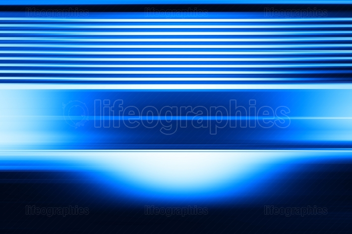 Horizontal blue abstract street wall background