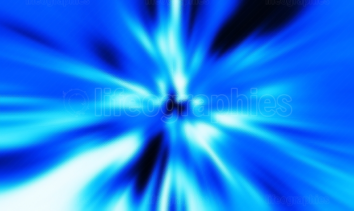 Horizontal blue abstract teleport textured background