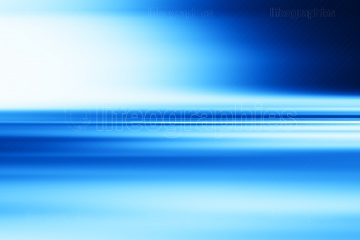 Horizontal blue motion blur surface background