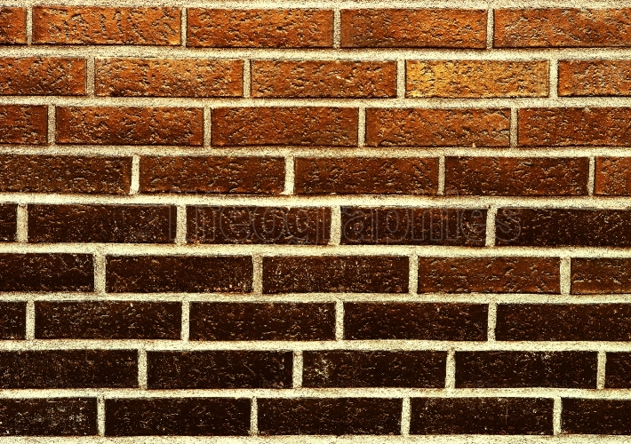 Horizontal orange brick wall texture background