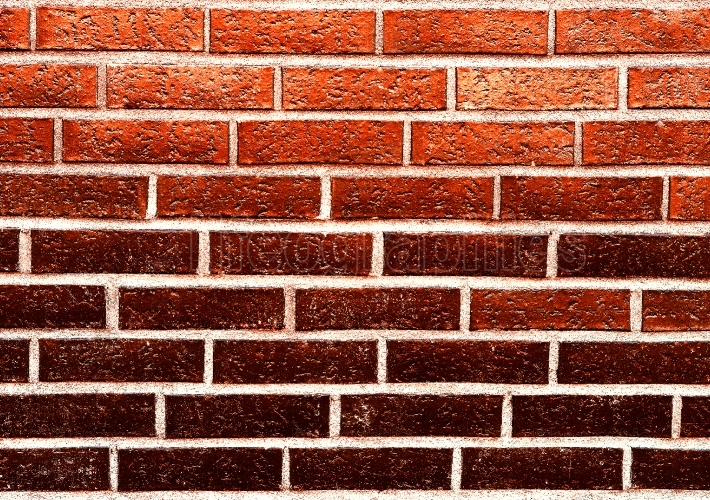 Horizontal red brick wall texture background