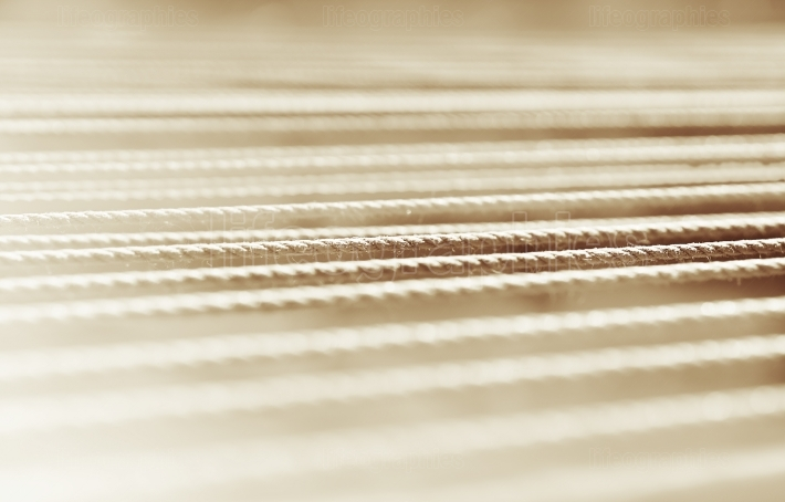 Horizontal sepia rope detail bokeh background