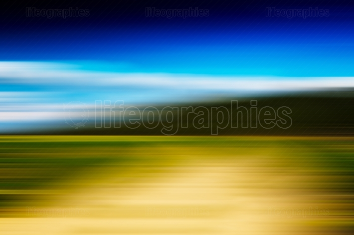 Horizontal vivid abstract motion blur forest landscape backdrop