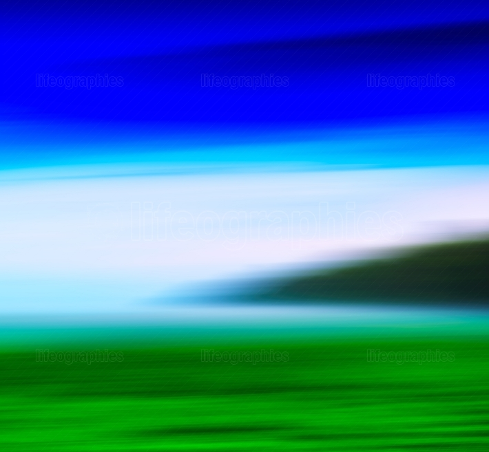 Horizontal vivid abstract motion blur fresh landscape background