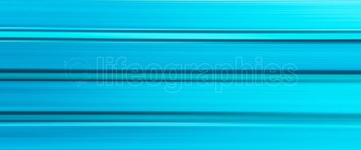 Horizontal wide cyan blurred abstraction lines background