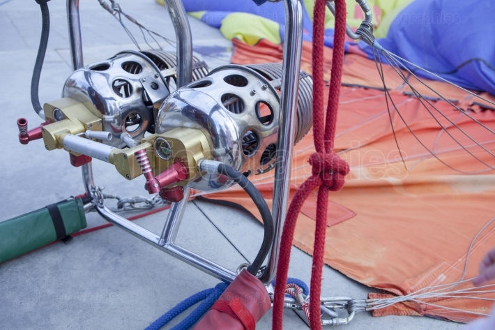 Hot air balloon burners detail