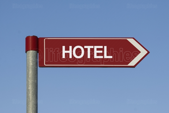 Hotel sign post