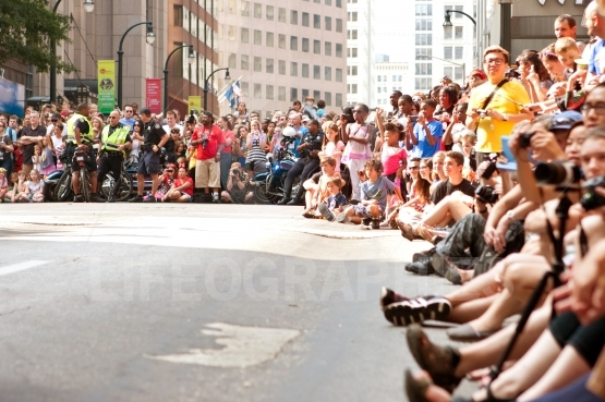Huge Crowd Lines Atlanta Street At Dragon Con Parade