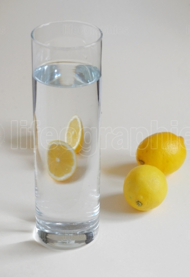 Ice Cold Water with Lemon
