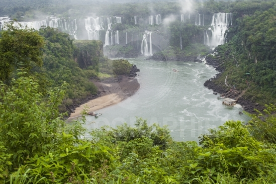 Iguassu falls, the largest series of waterfalls of the world, vi