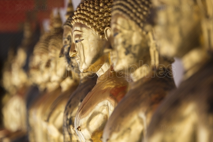 Images of Buddha at Wat Pho or Wat Phra Chetupon Vimolmangklarar