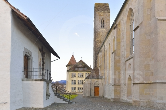 Inside courtyard of the Rapperswil castle