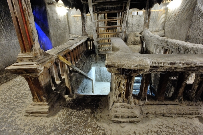 Interior of salt mine