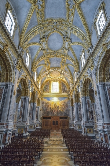 Interior of the Abbey of Montecassino, Italy