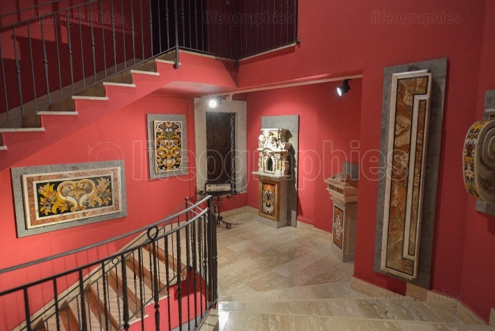 Interior of the museum of  the Abbey at Montecassino, Italy