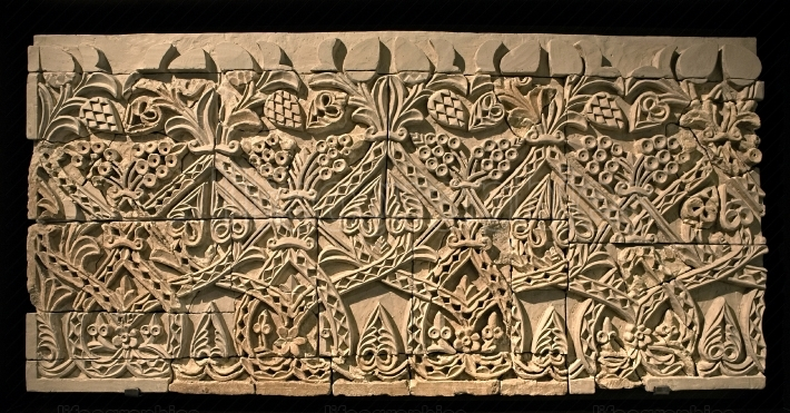Intricate patterns on caliphate relief