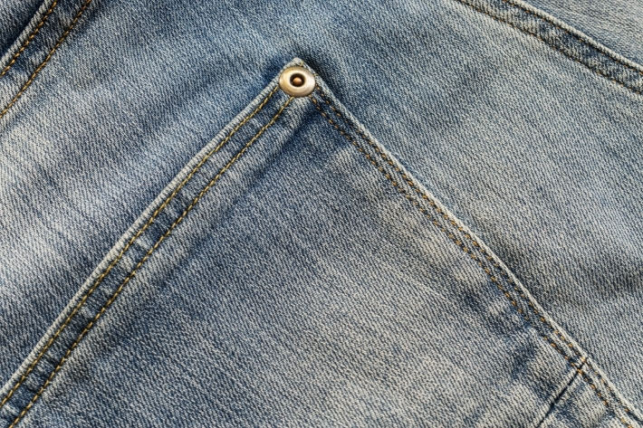 Jeans pocket and jeans texture