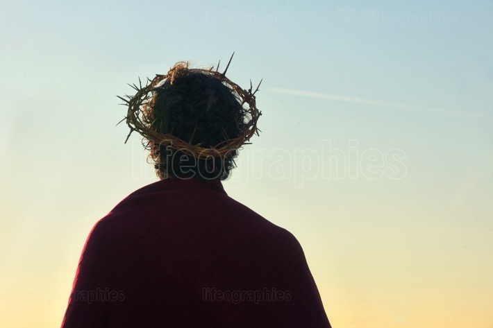 Jesus Christ with crown of thorns