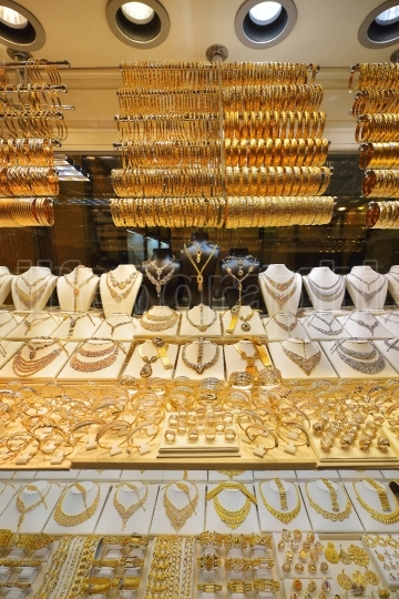 Jewelry store window display in Grand Bazaar, Istanbul