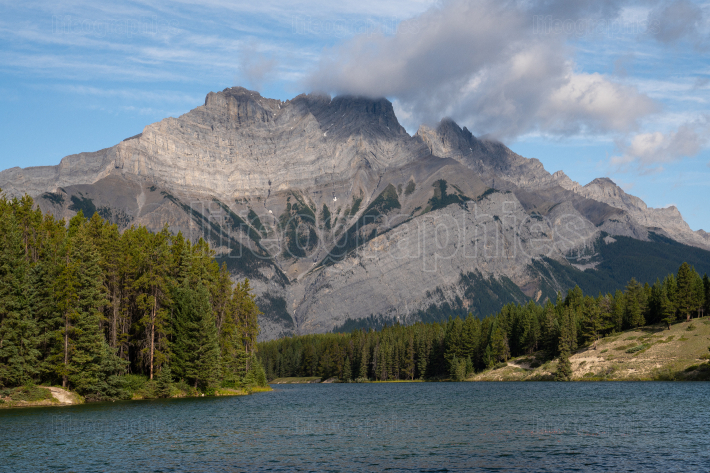 Johnson Lake close to Banff, Alberta, Canada