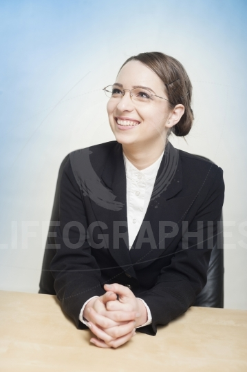 Jovial and happy business woman