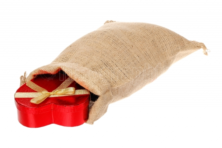 Jute bag with gift box