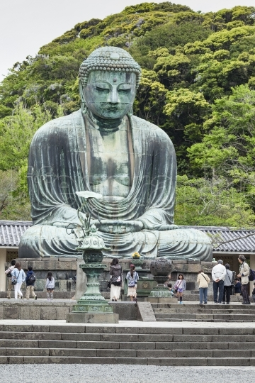 Kamakura, japan - may 06, 2014 :the great buddha (daibutsu) on t