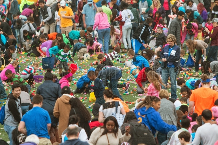 Kids Eagerly Participate In Massive Community Easter Egg Hunt