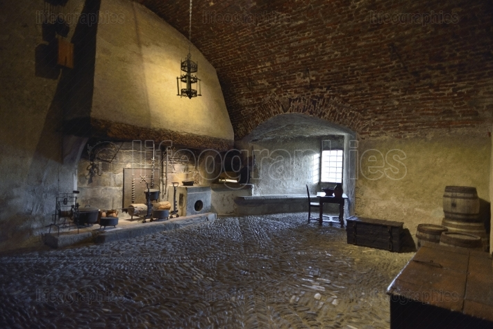 Kitchen interior from Gruyeres Castle