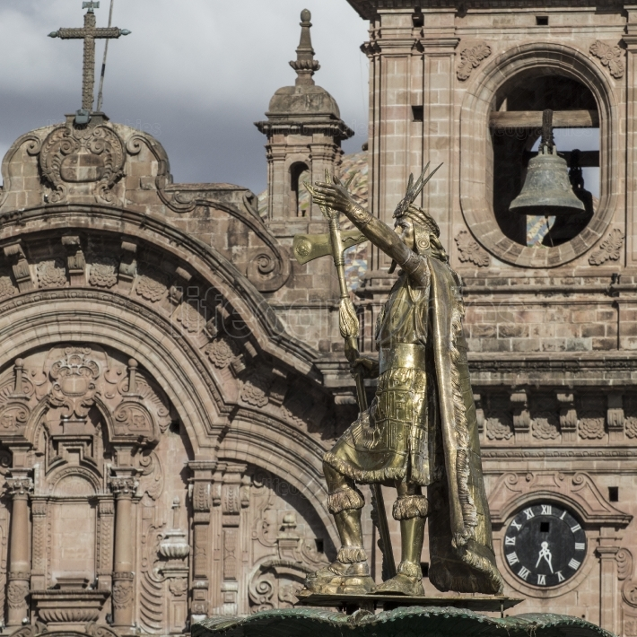 La compania de jesus church on plaza de armas square in cuzco, p