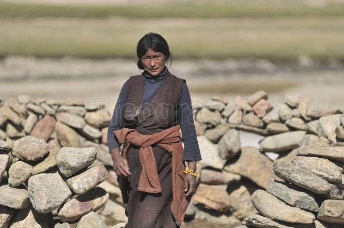 Ladakhi nomad woman from Korzokh