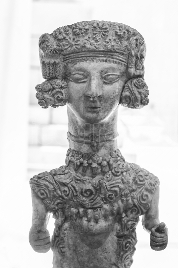 Lady of Ibiza detail, a ceramic figure that dates from the third