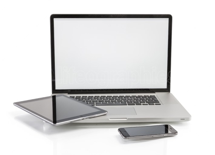 Laptop, tablet computer and smartphone