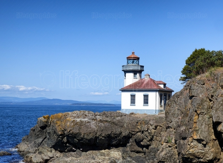 Lighthouse on Puget Sound of Washington State
