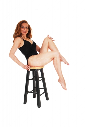 Lingerie woman on chair